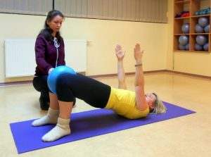 asmeninė treniruotė su kineziterapeute
