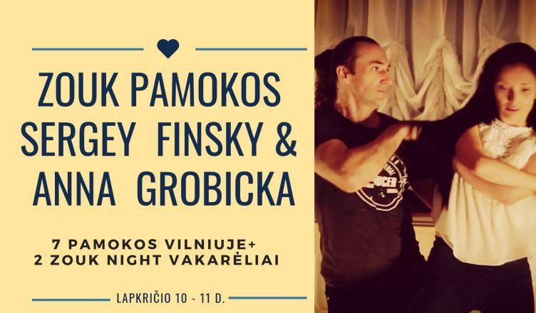 Zouk pamokų savaitgalis Vilniuje